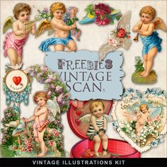 Freebies Vintage Love Vignettes:Far Far Hill - Free database of digital illustrations and papers
