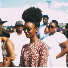 Afro puff! @queen_taelor (at www.kurleebelle.com)