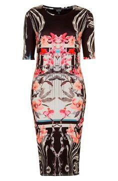 Topshop 'Orchid Mirror' Print Body-Con Dress | Nordstrom
