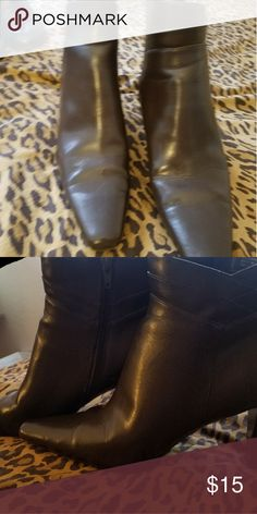 high heel boots brown boots size 9 slightly been used a couple times Worthington Shoes Ankle Boots & Booties