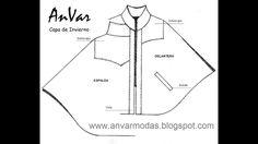 TRAZO PARA CAPA DE INVIERNO Costura Diy, Line Chart, Youtube, Cape Clothing, Winter Coats, Templates, Winter Cloak, Scarf Patterns, Sewing Tutorials