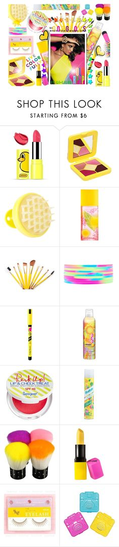 """""""~  Live Color Fully ~"""" by li-lilou ❤ liked on Polyvore featuring Lime Crime, Vanity Planet, Elizabeth Arden, Forever 21, Sally Hansen, amika, Supergoop! and Barry M"""