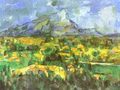 "Paul Cézanne ""La montagna Sainte-Victoire vista dai Lauves"", The Philadelphia Museum of Art.Mont Sainte-Victoire, by Paul Cezanne Cezanne Art, Paul Cezanne Paintings, Culture Art, Drawn Art, Philadelphia Museum Of Art, Oil Painting Reproductions, Claude Monet, Renoir, Anime Comics"