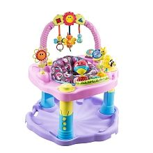 The Evenflo ExerSaucer Double Fun Saucer - Pink Bumbly provides a variety of fun, physical activities that promote healthy development and a love of movement. Activity Toys, Activity Centers, Baby Girl Dresses, Baby Dress, Baby Girls, Toddler Toys, Baby Toys, Baby Exersaucer, Baby Corner