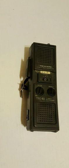 Realistic Citizens Band Transciever TRC-83 1 Watt 3 Channel #Realistic