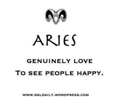 Aries are genuine. Period!
