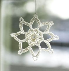 crochet snowflake pattern - too pretty to refuse!