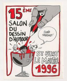 Etiquette Theme Festival 15EME Salon Saint Just LE Martel Signee Franx 1996 |