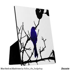 Blue bird on black tree plaque Find out other colors and versions.