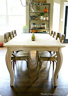 A french #country table in the #kitchen! Love those curvy legs! #wayfair PAINT table I have!
