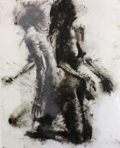 "https://flic.kr/p/93CMvV   Drawing Study   36"" x 24"", printmaking ink on Dura-Lar"