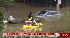 If you live in Houston or other flooded parts of Texas weren't able to file your taxes on April 18, the IRS is cutting you some penalty slack. (Boaters head out on flooded Houston roads looking for stranded drivers via CBSN)