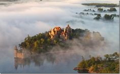 Boldt Castle is located on Heart Island in the 1000 Islands, Alexandria Bay, New York