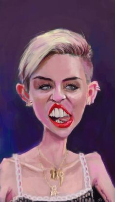 miley cyrus caricature