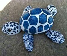 Piedras forman tortuga