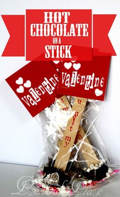 Valentine's Day Hot Chocolate on a Stick {Gift Idea}