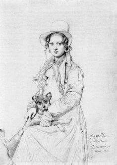mademoiselle-henriette-ursule-claire-maybe-thevenin-and-her-dog-trim.jpg Jean Auguste Dominique Ingres