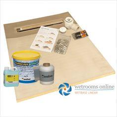 Wetrooms Online Wet Room Shower Tray Floor Kit Linear Drain