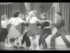 """Groovie Movie (1944) is a ten-minute """"instructional"""" swing dance video. Irene shines in the second half of the video, with her big white hair bow and jumper. I especially love her popping at 8:37 and her attitude at 8:45. #styleicon #modcloth"""