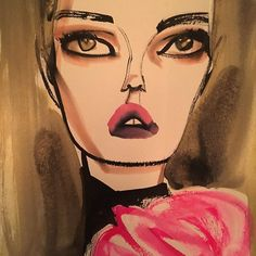 Such a great Face @lina_hoss ▪▪▪Short Cuts are Bold & Beautiful #muse #eyes #shorthair #linahoss #hair #gucci #show #fashion #fashionblogger #fashionart #paint #painting #glam #style #beauty #beautiful