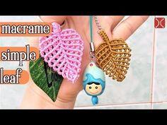 Macrame tutorial: The simple leaf - Simple leaves pattern - YouTube