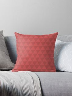 Red triangles. Pillows. Pillow to decorate the house. Leave your sofa and house most beautiful with decorative pillows with beautiful patterns. Pillow & Cushion cover, decorative Pillow & Cushion, sofa Pillow & Cushion, floor Pillow & Cushion.