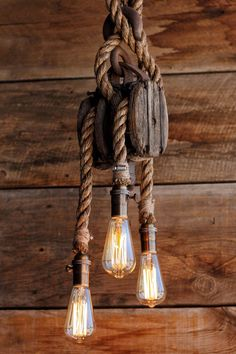 The Triple Set Sail Pendant Light  Barn Pulley  Industrial
