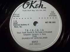 "First and Big Auction 78rpm in 2017 Come in & find out :-)      !!! Startprice only 1,99 Euro !!! Worldwide shipping !!!     THE DUKES OF DIXIELAND ""Neon Love / Ta-La-La-La"" Okeh 78rpm 10"" Not For Sale"
