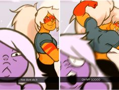 Jasper kinda reminds me of Undyne from Undertale in this and Amethyst can be Sans