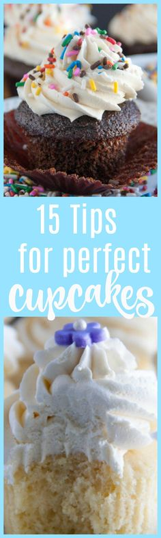 15 tips for perfect cupcakes | tips for cupcakes | cupcake tips | cupcakes | cupcake recipes | how to bake cupcakes | how to bake perfect cupcakes | cupcake tip