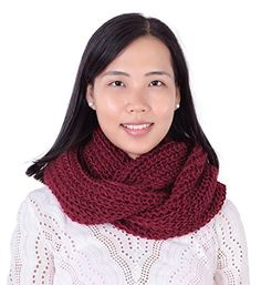 Jemis Women' s Super Soft Winter Knit Warm Infinity Scarf Christmas Lingerie, Scarf Wrap, Scarf Knit, Red Accessories, Classy Men, Circle Scarf, Scarf Styles, Womens Scarves, Cable Knit