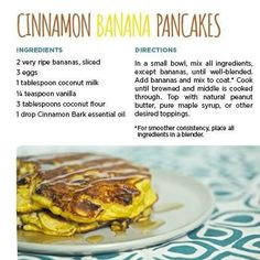 Cooking with Essential Oils - Cinnamon Banana Pancakes - using only 1 drop of cinnamon essential oil.