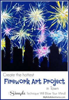 Want to create the explosive effects of fireworks in paint? This unique kids' art project will blow you away. Perfect for 4th of July
