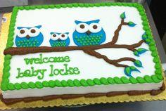 cakebabyshowerowl Baby shower Pinterest Cakes baby showers