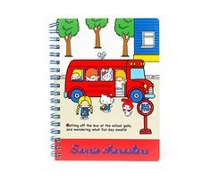Sanrio Characters Spiral Notebook: Bus