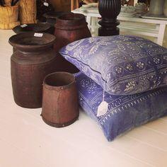 LuMu Interiors  Vintage Indigo Cloth Cushions  427 Darling Street, Balmain, NSW, 2041.  www.lumuinteriors.com