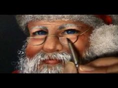 Acrylic Santa face with Ronnie Bringle One Stroke Painting, Painting Videos, Painting Lessons, Painting Tips, Painting Techniques, Art Lessons, Painting Tutorials, Santa Paintings, Christmas Paintings
