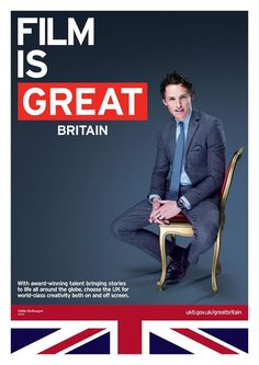 sirredmayne:  Eddie is featured in the new GREAT ad campaign to celebrate the UK film industry! (x)