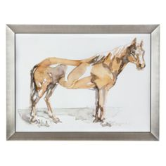 Contemporary horse wall art. Bravo from Z Gallerie