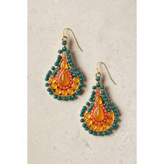 Bejeweled Gourd Earrings ❤ liked on Polyvore