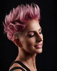 - - Best Picture For edgy hair balayage For Your Taste You are looking for something, a Funky Short Hair, Edgy Hair, Short Hair Cuts, Short Hair Styles, Hair Tattoos, Funky Hairstyles, Pixie Haircut, Great Hair, Hair Today