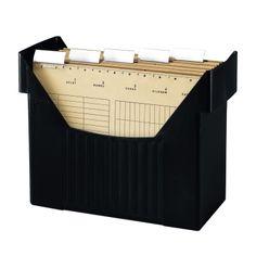 Herlitz 1611391 Hängeregistraturbox Hängebox A4 schwarz Big Boy mit 5 Hängemappen natron: Amazon.de: Bürobedarf & Schreibwaren