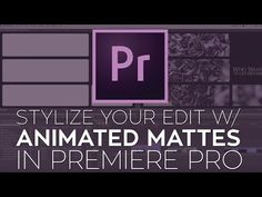 Use Animated Mattes to Stylize Your Edit in Adobe Premiere Pro Photography And Videography, Video Photography, Photo Class, Creative Suite, Video Effects, Adobe Premiere Pro, Le Web, Photoshop Tips, Video Editing