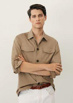 Cotton Jacket, Cotton Shorts, Look Plus, Smart Casual, Cute Guys, Military Jacket, Khaki Pants, T Shirt, Menswear