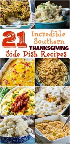 21 of the best southern Thanksgiving side dish recipes thanksgiving sidedishrecipes casseroles 235664992985015583 Thanksgiving Dinner Recipes, Thanksgiving Side Dishes, Holiday Recipes, Southern Thanksgiving Recipes, Thanksgiving Turkey, Christmas Desserts, Holiday Meals, Holiday Dinner, Happy Thanksgiving
