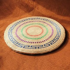 Indian floor seating cushion hand felted woolNamda 24 small round rug Meditation mat Round seat pad rug pad
