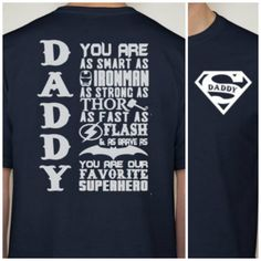 Super Daddy t-shirt Favorite Superhero Daddy by DesignsbyJackelyn