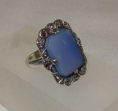 Vintage Ellensburg Blue Agate Sterling Silver and by JimRabun, $125.00
