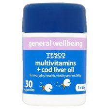 R1551 402203 OR R1582 402274  Tesco Multivitamins Plus Cod Liver Oil X 30