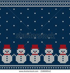 Winter Holiday Seamless Knitted Pattern with Snowmans stock illustration Fair Isle Tapisserie häkeln Knitted Seamless Winter Pattern Stock Vector - Illustration of illustration, hipster: 45878916 Baby Knitting Patterns, Knitting Charts, Knitting Stitches, Knitted Christmas Stocking Patterns, Knitted Christmas Stockings, Christmas Knitting, Punto Fair Isle, Motif Fair Isle, Crochet Cross